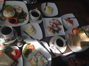 Over indulgent breakfast